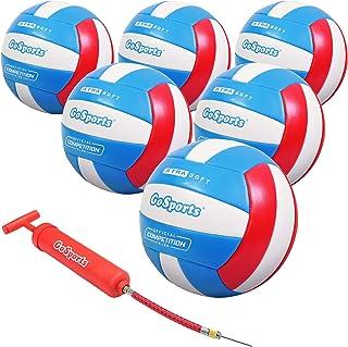 والیبال تفریحی GoSports Soft Touch | اندازه تنظیم برای بازی داخلی یا فضای باز | شامل پمپ توپ - بین یک یا 6 بسته را انتخاب کنید