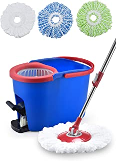 Simpli-Magic 79188 Floor Cleaning System, Spin Mop Kit, Blue