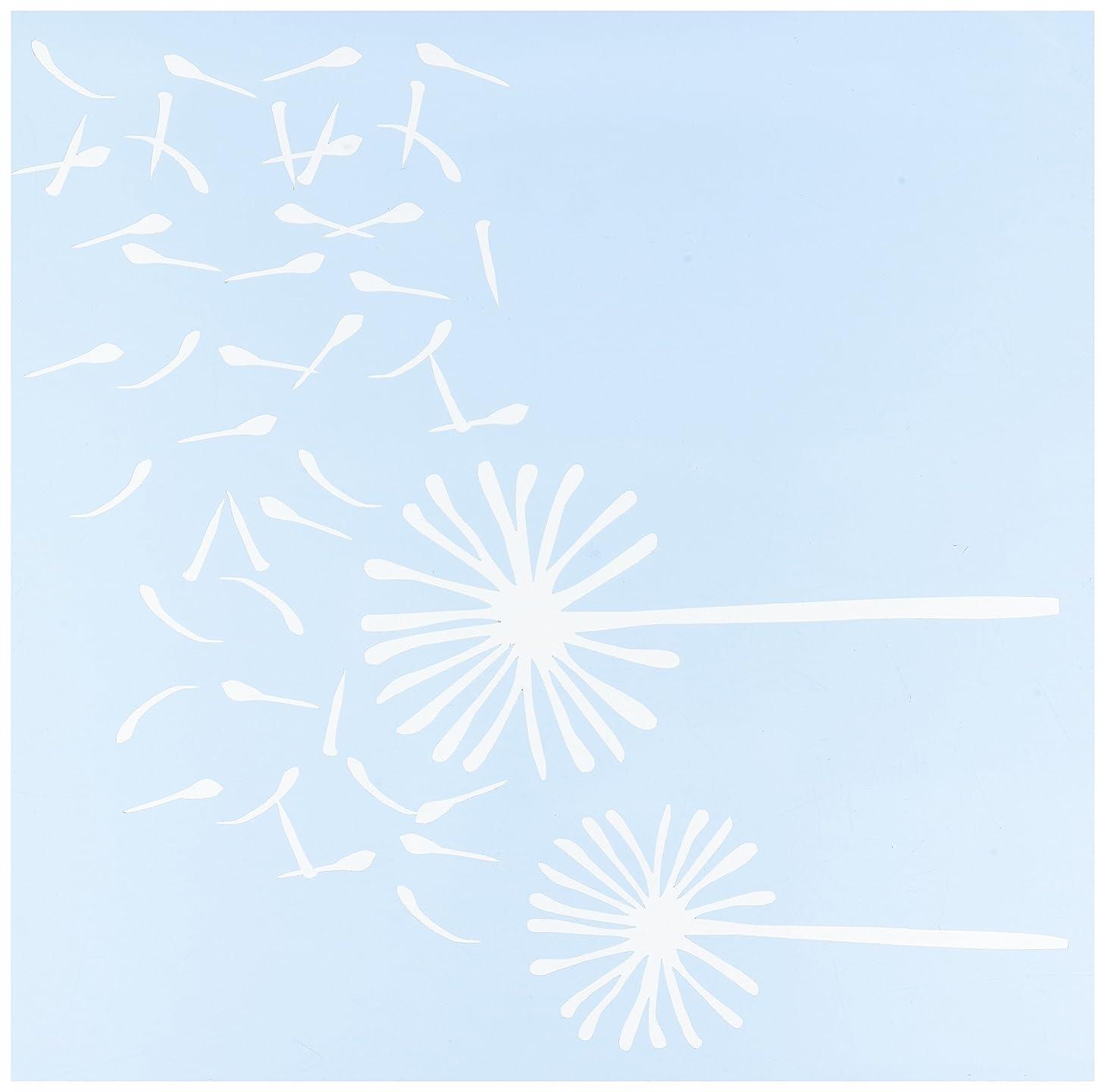 Clear Scraps Dandelion Wind Stencils, 12 by 12