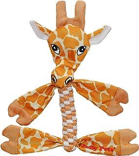 Jolly Pets Flathead Tug/Squeak Dog Toy, Giraffe, Medium (FHG7)