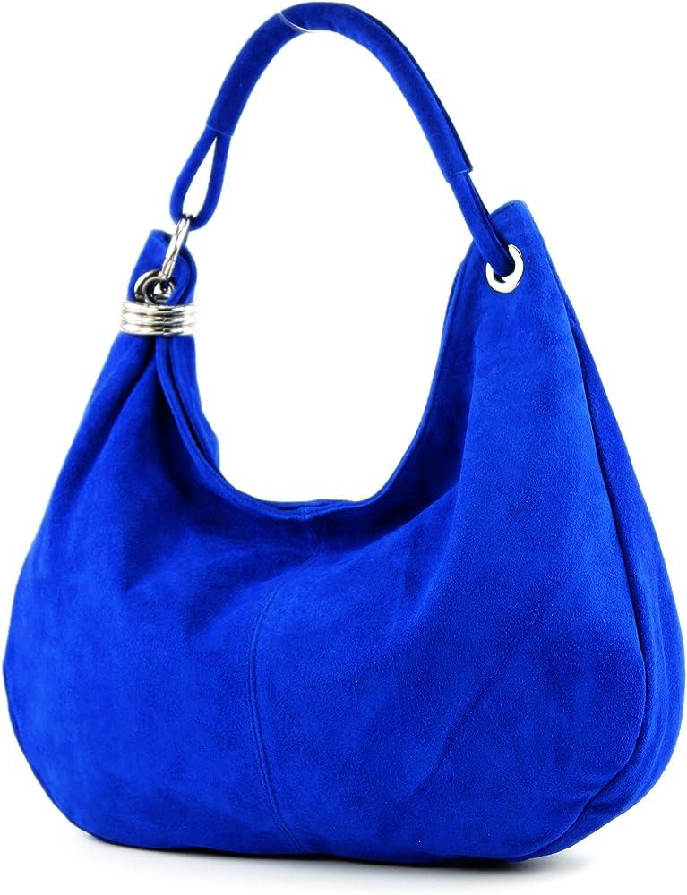 Modamoda de, borsa per donna, a mano/tracolla, in vera pelle scamosciata T02KÖBL