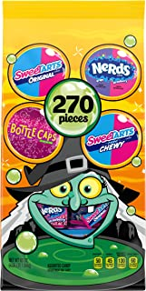 Assorted Halloween Candy Variety Bag, Bottlecaps, Laffy Taffy, SweeTARTS and Nerds, 65 Ounce, 270 Pieces