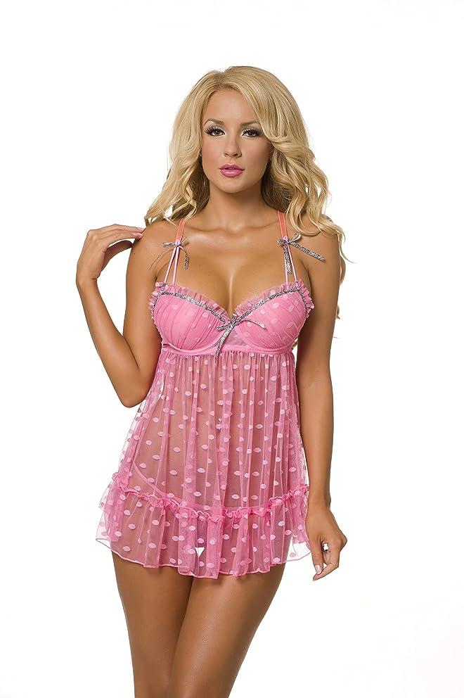 Velvet Kitten Sexy Fever Blush Babydoll Lingerie for Women 512156