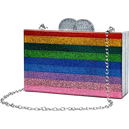 M.DAOLEN Womens Shiny Clutch Crystal Wrist Evening Bag Bling Purse for Cocktail Prom Party