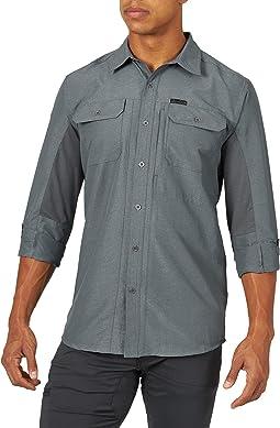 Atg By Wrangler Men's Long Sleeve Mixed Material Shirt