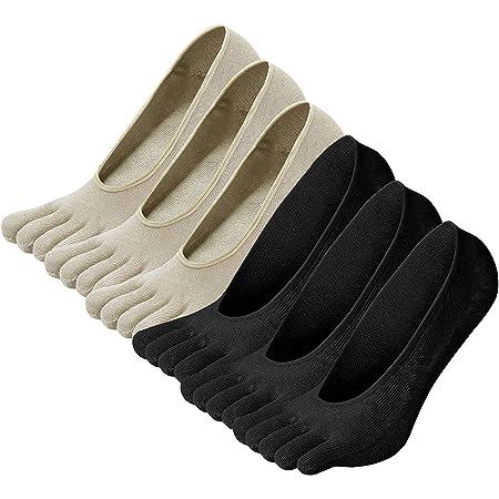 Damen Kompressionssocken Atmungsaktiv Orthop?dische Unsichtbare Zehensocken Ultra-tief Geschnittenes F/ünf Finger Socken Anti-Blocking Innensocken Anti-Reibung Kn?chelsocken Laufsocken Yoga Socken