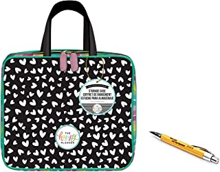 2 Pcs Bundle: me & My Big Ideas Create 365 Scattered Hearts Storage Case Bag and Comes with a Kemah Bamboo Pen
