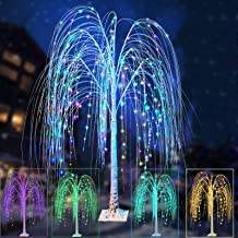 Colorful 240 LED Willow Tree Light, Lighted Colors Changing 5Ft Christmas Decor Tree with Timer Remote Purple Branches for...