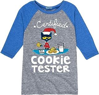 Pete The Cat Certified Cookie Tester - Toddler Raglan