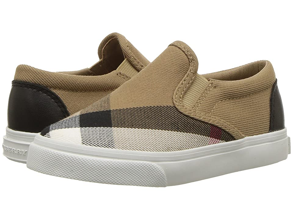 Burberry Kids Linus Check Trainer (Toddler) (Classic/Optic White) Kid