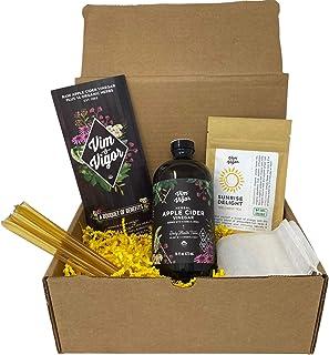 Sponsored Ad - Vim & Vigor Gift Set with Apple Cider Vinegar Herbal Tonic   Energizing Tea   Honey   14 Herbs Natural Deto...