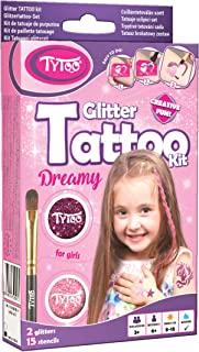Tytoo Kit de Tatuaje de Purpurina para Chicas con 15 Plantillas, Uso Seguro, duración de 8-18 días
