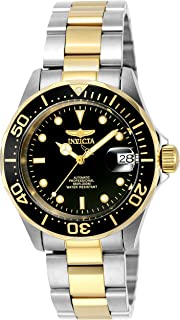 Men's 8927 Pro Diver Collection Automatic Watch, Gold-Tone/Black