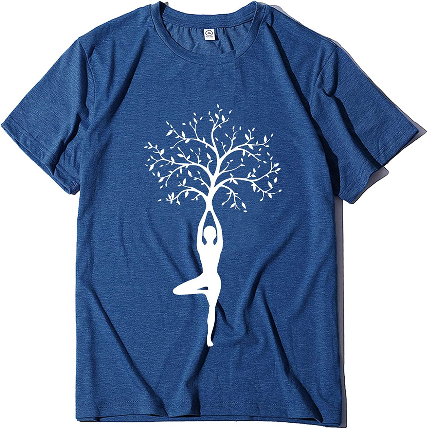 Graphic Tees for Women Free Shipping Cheap Bargain OFFicial shop Gift Vintage Short Tree Print S Funny T Sleeve
