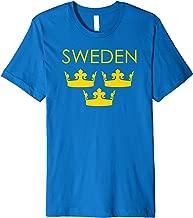 Sverige Sweden Three Crowns Tre Kronor T-shirt Women Girls T