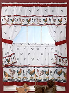Amazon.com: rooster kitchen curtains