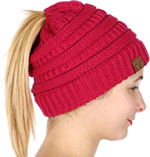 SERENITA Knit Beanie hat, Soft Warm Cable Winter Chunky Sequin Cap, Oversized Slouchy stretcing, for Women
