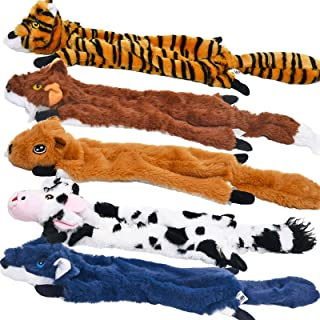 Dog Squeaky Toys 5 Pack, Pet Toys Crinkle Dog Toy No Stuffing Animals Dog Plush Toy Dog Chew Toy for Large Dogs and Medium...