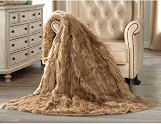 Member's Mark Luxury Faux Fur Throw - Camel