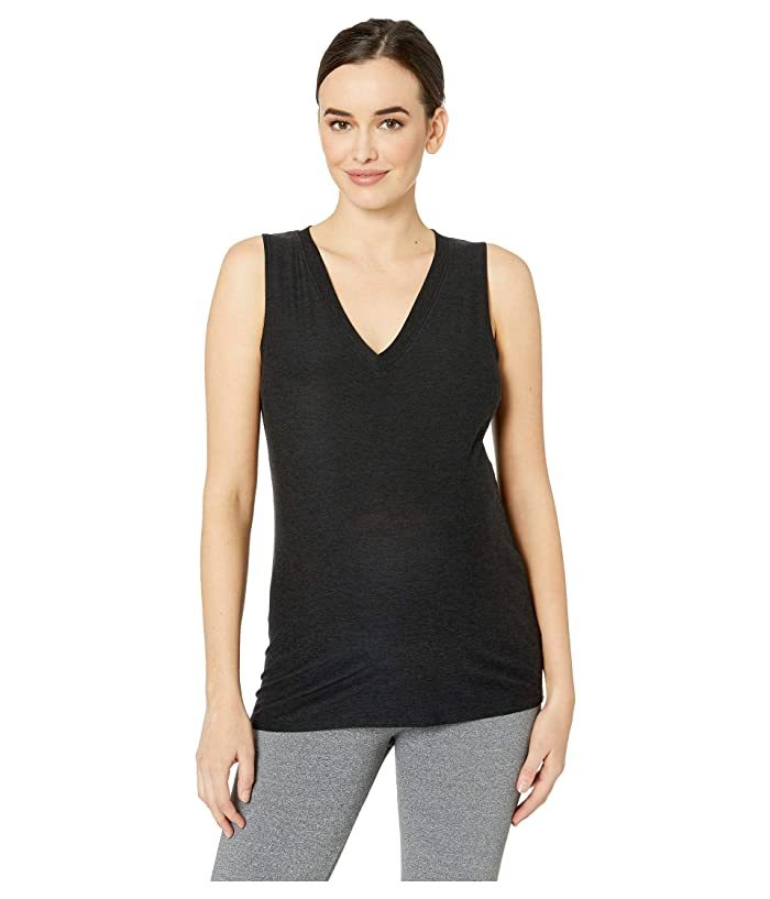 Beyond Yoga Maternity All About It Split Back Tank Top (Darkest Night) Women