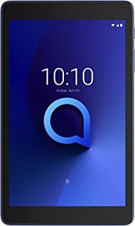 Alcatel 3T 9027Q Tablet - 8 Inch, 32GB, 3GB RAM, 4G LTE, Sandstone Blue + Flip Cover