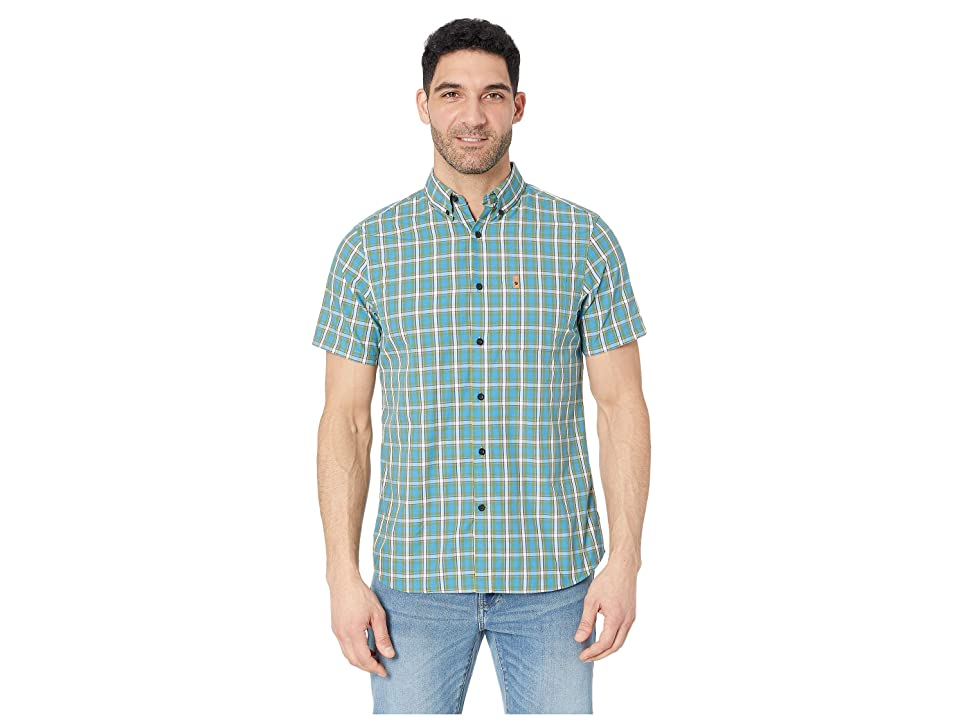 Fjallraven Ovik Shirt Short Sleeve (Azure Blue) Men
