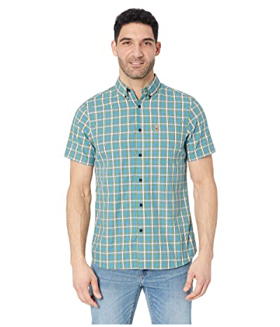 Fjallraven Ovik Shirt Short Sleeve (Azure Blue) Men