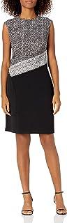فستان حريمي من Sandra Darren مصنوع من قطعة واحدة من الكتف الممتد