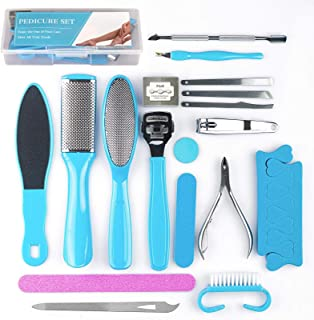 Sponsored Ad - Booyckiy Professional Pedicure Tools Set 20 in 1, Foot File Callus Remover Kit, Stainless Steel Foot Rasp f...