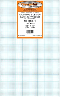 $48 » Clearprint Vellum Sheets with 8x8 Fade-Out Grid, 8.5x11 Inches, 16 LB, 60 GSM, 1000H 100% Cotton, 100 Sheets Per Pack, Tra...