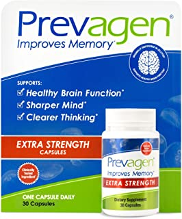 Prevagen Improves Memory Extra Strength 20mg, 30 Capsules with Apoaequorin & Vitamin D | Brain Supplement for Better Brain...