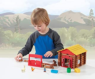 Lincoln Logs Fun On The Farm - Real Wood Logs - 102 Parts - Ages 3 & Up