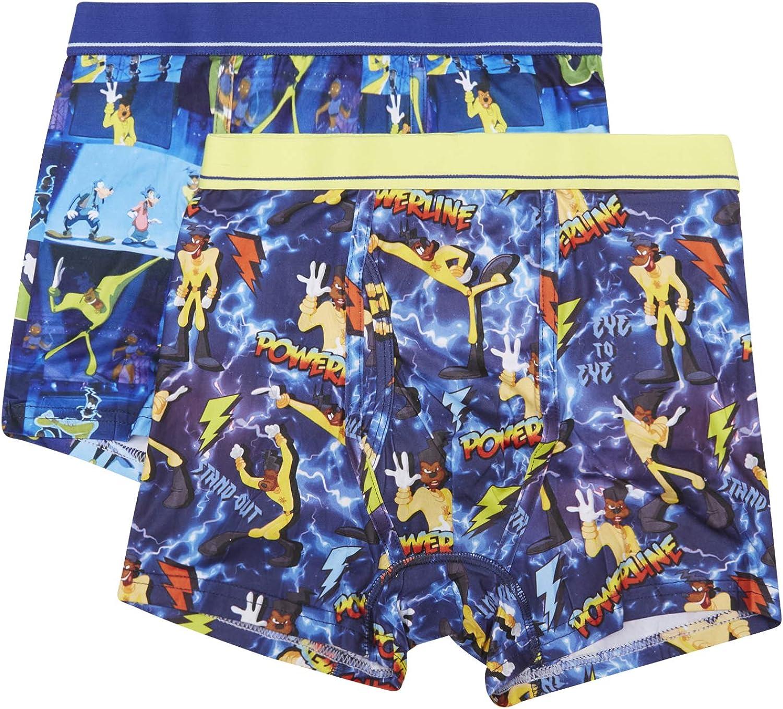 Disney Powerline Goofy Movie-Max Goof Mens Underwear-2 Pack Boxer Briefs