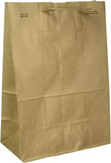 Duro Paper Retail Grocery Bags with Handles 12 x 7 x 17 inches, 50 Count