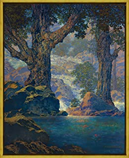 Berkin Arts Framed Maxfield Parrish Giclee Canvas Print Paintings Poster Reproduction(Cascades)