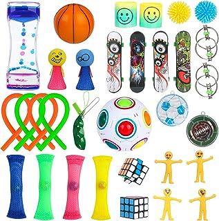 32 Pcs Sensory Fidget Toys Set, Stress Relief and Anti-Anxiety Toys Set, Stress Relief Hand Toys for ADHD ADD Anxiety Auti...