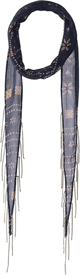 Vintage Bandana Printed Skinny Scarf