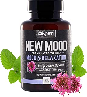 ONNIT New Mood® - Daily Stress, Mood, Sleep & Serotonin Supplement - Chamomile, Magnesium, L-Tryptophan, 5 htp, Valerian -...