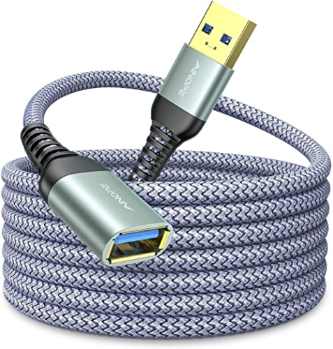 10FT USB 3.0 Extension Cable Type A Male to Female Extension Cord AINOPE High Data Transfer Compatible with USB Keybo...