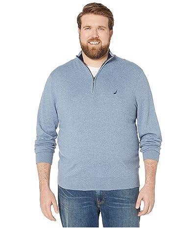 Nautica Big & Tall Big Tall 1/4 Zip Navtech Mock Neck Sweater (Deep Anchor) Men