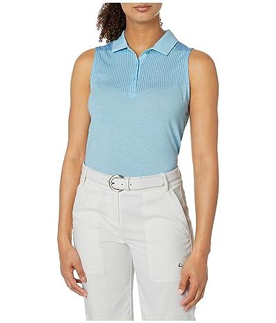 PUMA Golf Verticals Sleeveless Polo (Ethereal Blue Heather) Women