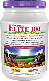 Andrew Lessman Multivitamin - Women's Elite-100 with Maximum Essential Omega-3 1000 mg 30 Packets – 40+ Potent Nutrients, ...