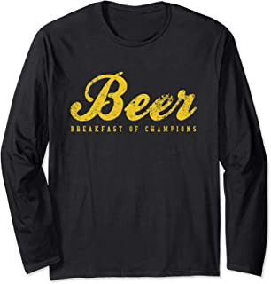Beer Breakfast of Champions t-shirt vintage inspired Funny Long Sleeve T-Shirt