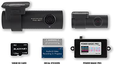 BlackVue DR750S-2CH Bundle including 128GB Micro SD Card and Power Magic Pro | WIFI GPS Cloud Capability