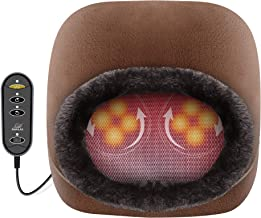 Snailax 2-in-1 Shiatsu Foot Massager Warmer - Soft Plush Feet and Back Massager for Women Men with Heating Pad, Back Massa...