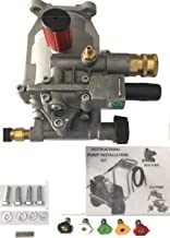 ExceII New Pressure Washer Pump with 5 QC Tips Replaces A14292 Honda Replaces XR2500 XR2600 XC2600 EXHA2425 XR2625