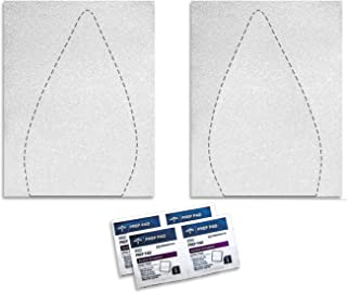 Shoe Bottoms Slip Resistant Shoe Sole Cover Protector for Heels Self-Stick Pads - Available in Clear, Black, or Red (1 Pair, Extended Clear)