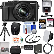Panasonic Lumix DMC-LX100 4K Wi-Fi Digital Camera (Black) with 64GB Card + Battery + Case + Tripod + Strap + Flash + Soft Box + Kit