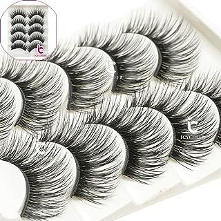 ICYCHEER Popular Makeup 5Pairs Natural Look 3D False Eyelashes Extension Eyelash Long Thick Handmade Eye Lashes Black