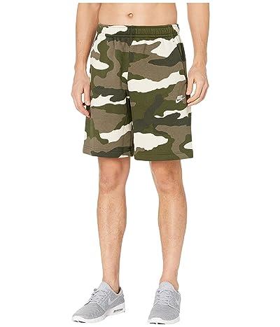 Nike NSW Club Shorts Camouflage (Medium Olive/Medium Olive/Summit White 1) Men